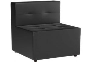 Модульный диван Домино Черный (Экокожа)