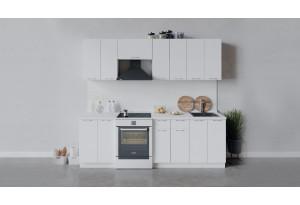 Кухонный гарнитур «Весна» длиной 240 см (Белый/Белый глянец)