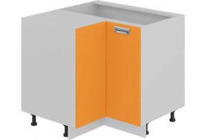 Шкаф напольный угловой с углом 90° (БЬЮТИ (Оранж))
