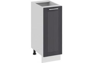 Шкаф напольный с одной дверью «Ольга» (Белый/Графит)