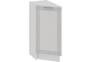 Шкаф напольный торцевой с одной дверью «Ольга» (Белый/Белый)