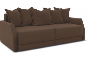 Диван «Люксор Slim» Beauty 04 (велюр) коричневый