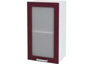Ксения Навесной шкаф 400 мм, с дверцей и стеклом