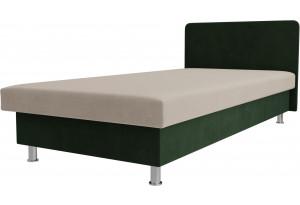 Кровать Мальта бежевый/зеленый (Микровельвет)