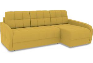 Диван угловой правый «Аспен Slim Т2» (Poseidon Curcuma (иск.замша) желтый)
