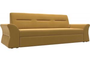 Прямой диван Клайд Желтый (Микровельвет)