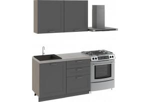 Кухонный гарнитур стандартный набор «Одри» ОДРИ (Серый шелк)