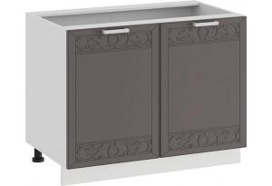 Шкаф напольный с двумя дверями «Долорес» (Белый/Муссон)