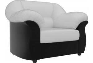 Кресло Карнелла Белый/Черный (Экокожа)