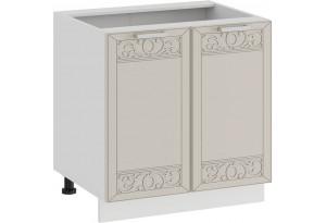 Шкаф напольный с двумя дверями «Долорес» (Белый/Крем)