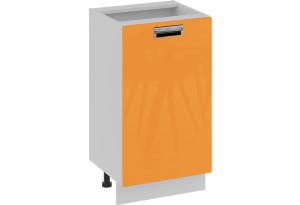 Шкаф напольный нестандартный (правый) (БЬЮТИ (Оранж))
