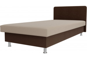 Кровать Мальта бежевый/коричневый (Рогожка)