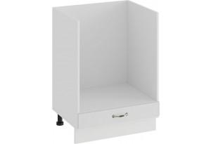 Шкаф напольный под бытовую технику «Бьянка» (Белый/Дуб белый)