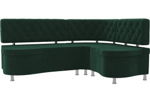 Кухонный угловой диван Вегас Зеленый (Велюр)