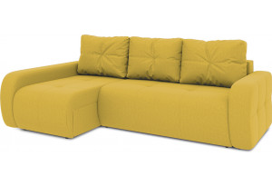 Диван угловой левый «Томас Т2» (Poseidon Curcuma (иск.замша) желтый)