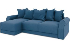 Диван угловой левый «Люксор Т1» Beauty 07 (велюр) синий