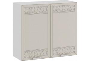 Шкаф навесной c двумя дверями «Долорес» (Белый/Крем)