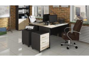 Набор офисной мебели для кабинета руководителя №6 «Успех-2» Венге Цаво, Дуб Сонома
