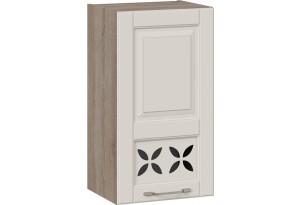 Шкаф навесной c декором (правый) (СКАЙ (Бежевый софт))