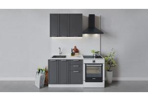 Кухонный гарнитур «Ольга» длиной 100 см (Белый/Графит)