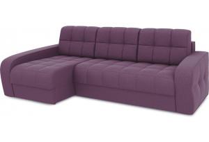 Диван угловой левый «Аспен Т2» (Kolibri Violet (велюр) фиолетовый)
