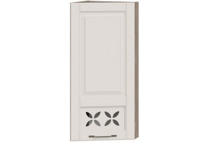 Шкаф навесной торцевой c декором (СКАЙ (Бежевый софт))