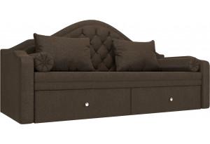 Прямой диван софа Сойер Коричневый (Рогожка)
