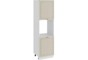 Шкаф-пенал под бытовую технику с двумя дверями «Бьянка» (Белый/Дуб ваниль)