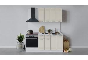 Кухонный гарнитур «Долорес» длиной 180 см со шкафом НБ (Белый/Крем)