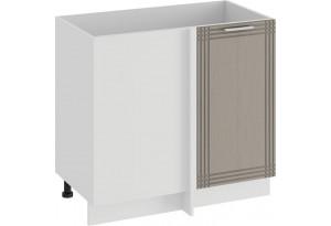 Шкаф напольный угловой «Ольга» (Белый/Кремовый)