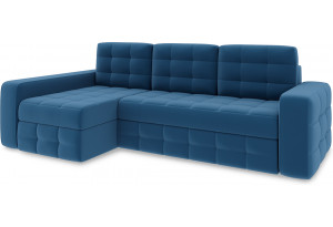 Диван угловой левый «Райс Т2» Beauty 07 (велюр) синий