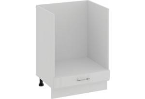 Шкаф напольный под бытовую технику «Весна» (Белый/Белый глянец)