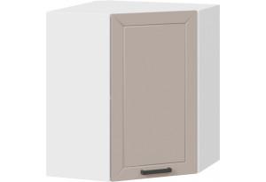 Шкаф навесной угловой «Лорас» (Белый/Холст латте)