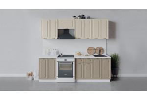Кухонный гарнитур «Бьянка» длиной 240 см (Белый/Дуб ваниль/Дуб кофе)