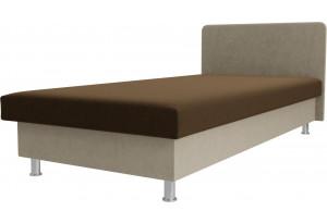 Кровать Мальта Коричневый/Бежевый (Микровельвет)