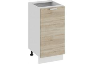 Шкаф напольный с одной дверью «Гранита» (Белый/Дуб сонома)