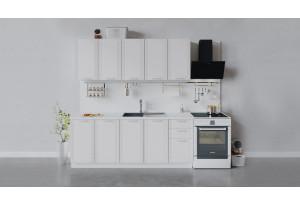 Кухонный гарнитур «Ольга» длиной 200 см (Белый/Белый)