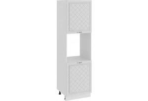 Шкаф-пенал под бытовую технику с двумя дверями «Бьянка» (Белый/Дуб белый)