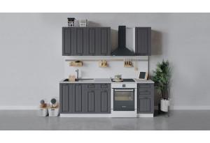 Кухонный гарнитур «Лина» длиной 160 см (Белый/Графит)