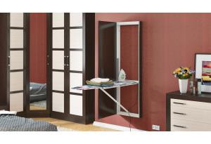 Шкаф с зеркалом со встроенной гладильной доской Тип 1 (Венге Цаво)