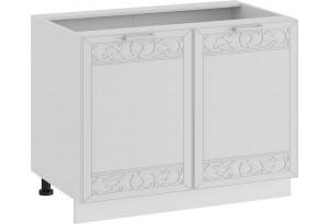 Шкаф напольный с двумя дверями «Долорес» (Белый/Сноу)