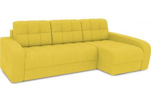 Диван угловой правый «Аспен Т2» (Neo 08 (рогожка) желтый)