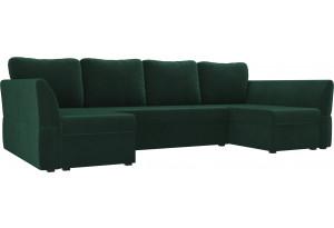 П-образный диван Гесен Зеленый (Велюр)