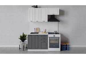 Кухонный гарнитур «Лина» длиной 160 см (Белый/Белый/Графит)