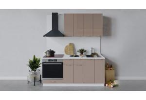 Кухонный гарнитур «Весна» длиной 180 см со шкафом НБ (Белый/Кофе с молоком)