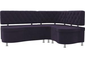 Кухонный угловой диван Вегас Фиолетовый (Велюр)