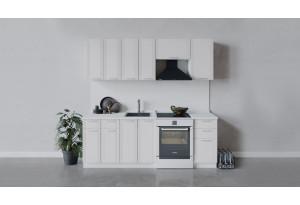 Кухонный гарнитур «Ольга» длиной 220 см (Белый/Белый)
