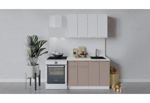 Кухонный гарнитур «Весна» длиной 120 см (Белый/Белый глянец/Кофе с молоком)