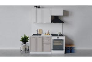 Кухонный гарнитур «Ольга» длиной 160 см (Белый/Белый/Кремовый)