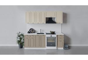 Кухонный гарнитур «Бьянка» длиной 220 см (Белый/Дуб ваниль/Дуб кофе)